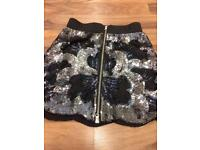 Oasis black sequinned skirt REDUCED