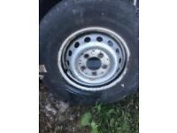 2 x Van wheels and tyres