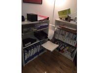 FREE: Ikea shelves and stools to whom can pick up. *Gone subject to collection*