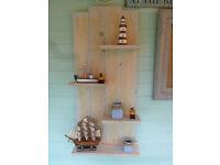 Rustic handmade floating shelf