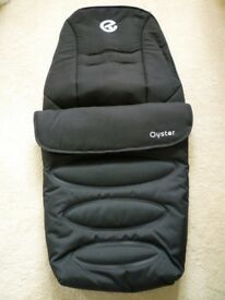Oyster Pushchair Footmuff-Smooth Black-Brand New-Still Bagged-Unwanted Christmas Gift