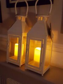BNIB Flicker Flame LED Candle Lanterns with Memory Timer