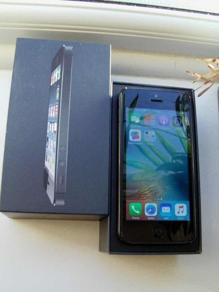 iPHONE 5 BLACK 16GB UNLOCKED TO ALL NETWORK, NOT iPHONE 6 OR 6Sin Leicester, LeicestershireGumtree - IPHONE 5 BLACK 16GB UNLOCKED TO ALL NETWORK USED BUT FULLY WORKING, VERY CLEAN AND IN GOOD CONDITION, COMES WITH USB CABLE, CHARGING PLUG AND IPHONE 5 BOX PLEASE CALL OR TEXT ONLY IF YOU ARE GENUINELY INTERESTED NO WEB TEXT AND NO TIME WASTERS CALL...