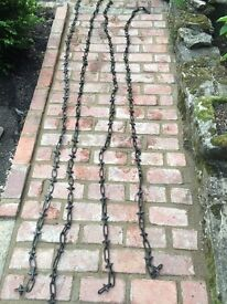 HEAVY DUTY SPIKED GALVANISED SECURITY CHAIN
