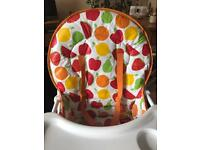 Fruit salad highchair from mothercare, not used