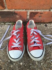 Kids red Converse (size 12)