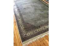 Indian handmade sarough Mir wool rug