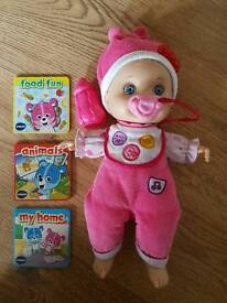 Baby born vtech little love doll interactive learns to talk with your child