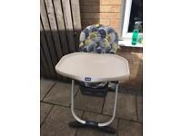 Chicco fold away high chair