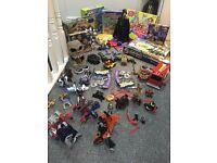 Masive bundle of kids boys games toys star wars batman transformers angry birds trash pack