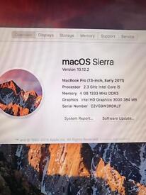 "MacBook Pro 2011 13 Inch"" 320 Gb Hd 4 GB RAM"
