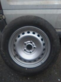 Wheel and tyre for Kangoo