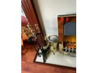 Electric Fire with surround and accessories