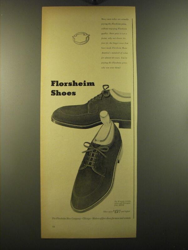 1950 Florsheim Advertisement - The Warwick S-1245 Shoes