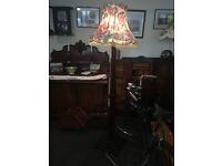 Superb Vintage Solid Mahogany Traditional Standard Lamp