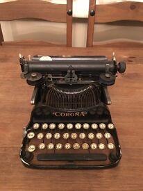 Antique Corona Folding typewriter