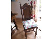 Dining Chairs x 6, dark wood