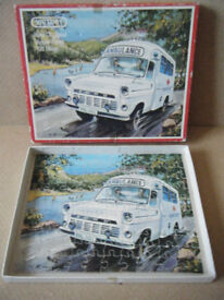 Vintage Emergency Services Series, AMBULANCE, Victory wooden puzzle 1973. Complete.