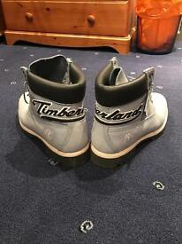Baby blue timberland boots 10.5