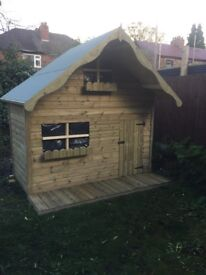 Wooden Wendy house / playhouse