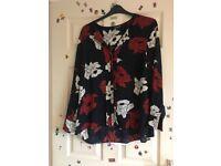 Debenhams Collection floral blouse size 18