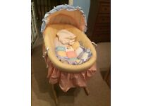 Large Moses Basket and Stand