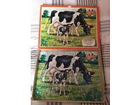 Vintage wooden puzzle 50 pieces. Complete/boxed £5