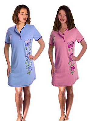 Damen-Nachthemd 2 Stück = 1 Preis (DF614cd) Gr.: 44-46