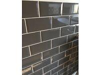 6 boxes (6m2) new grey metro tiles