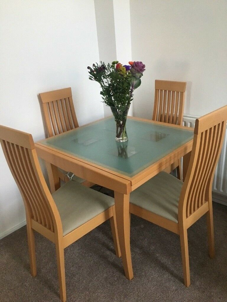 Stupendous Beech Dining Room Extending Table Chairs Not Included In Customarchery Wood Chair Design Ideas Customarcherynet