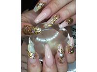 Arcylic nail extensions