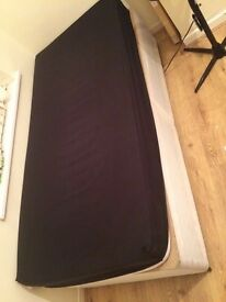 Single Divan bed base and mattress