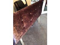 Velvet King size headboard