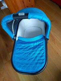 Blue UppaBaby Carry Cot with Raincover