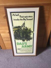 Original 1970s Dads Army film poster