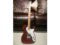 Fender'69 Thinline Telecaster with upgraded pickups.