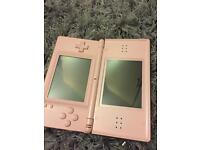 Pink Nintendo DS lite with charger