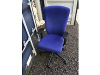 Office Chair Blue Excellent Condition