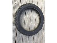 "Moto cross ""cougar"" Knobbly Road Tyre 4.10 - 18. was never used. Tyre as New"