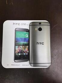 Htc m8 new boxed unlocked 32 gb metal gun colour . With Accesories