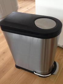 Stainless steel kitchen recycling bin