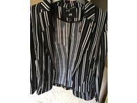 H&M Black and white jacket