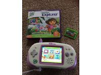 Leap Frog Leapster Explorer console with 2 games