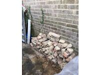 Garden bricks and rubble