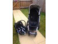Mothercare My4 Travel System inc car seat and car mirror