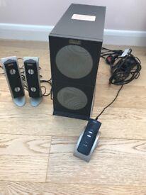 Altec Lansing 2100 2.1 Speaker Sub System - CONTROLLER NEEDS REPAIR
