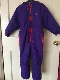 Purple and pink snowsuit age 4 fab condition
