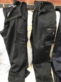 2 x pair men's work trousers