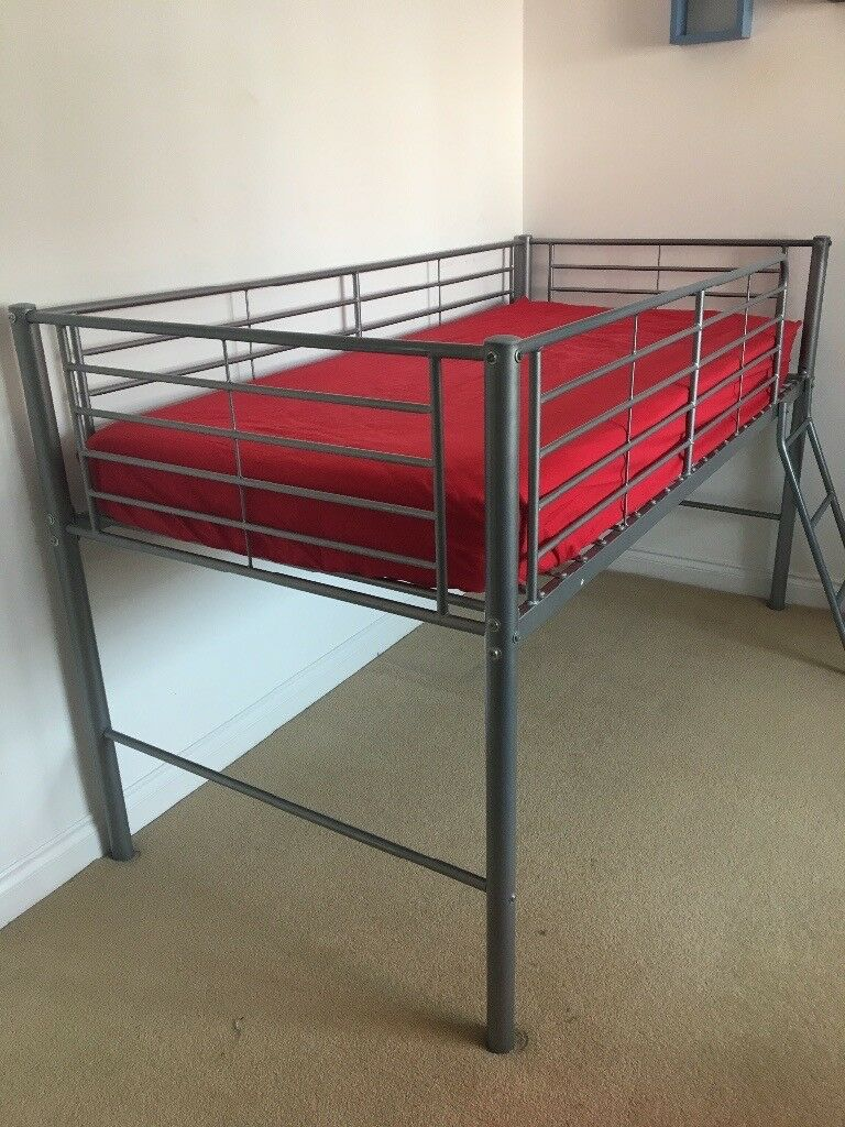 Mid Sleeper Metal Frame Cabin Bed