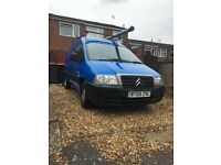 Citroën dispatch 2005 twin side loading doors roof rack moted